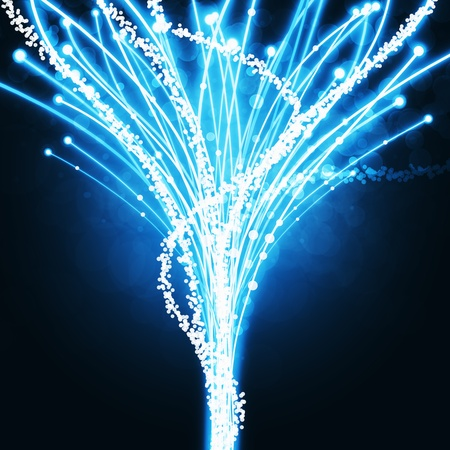 abstract of fiber optics, lighting effect and color glow Stock Photo - 13170399