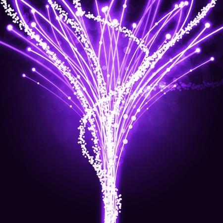 fiber optics: abstract of fiber optics, lighting effect and color glow