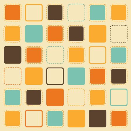 old wallpaper: square shape pattern in retro style