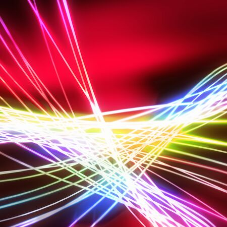 Abstract of weaving line ,lighting and glow effect photo