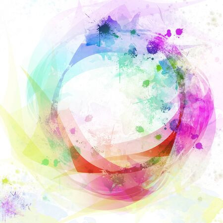 Abstract colorful circle background photo