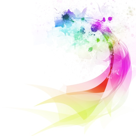 Abstract colorful curve and line background Imagens