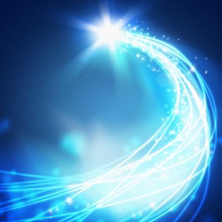 fibra óptica: abstracto de la línea curva, la tecnología de fondo Foto de archivo