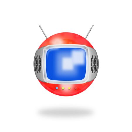 old television ,retro and vintage style Stock Photo - 13414680