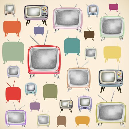 TV pattern ,retro and vintage style photo