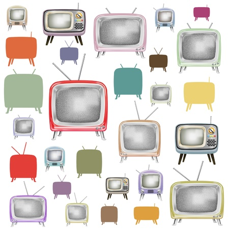 TV pattern ,retro and vintage style Stock Photo - 13540915