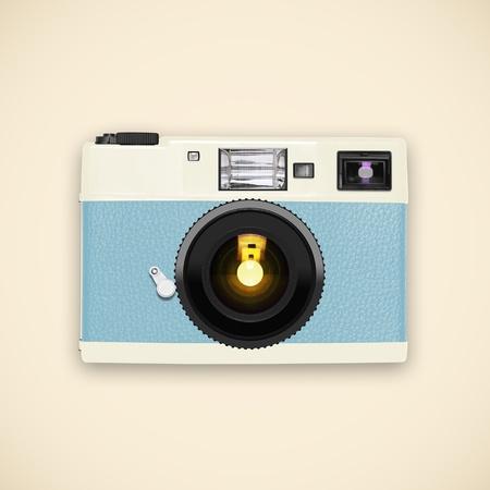 optical equipment: retro and vintage camera ,graphic design Stock Photo