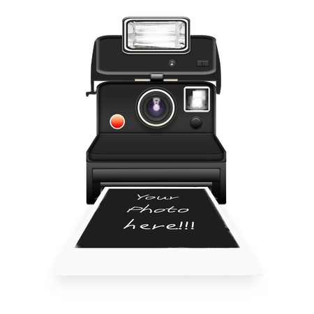 instant camera with a blank photo coming out Stock Photo - 13567661
