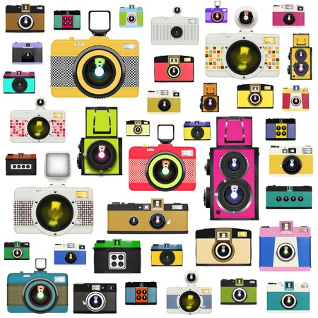 photo camera: camera pattern ,retro and vintage style Stock Photo