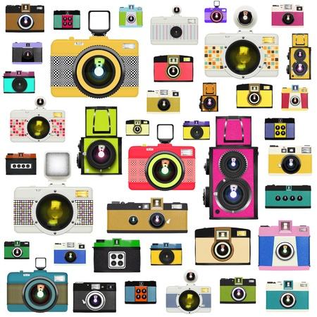 camera pattern ,retro and vintage style Standard-Bild