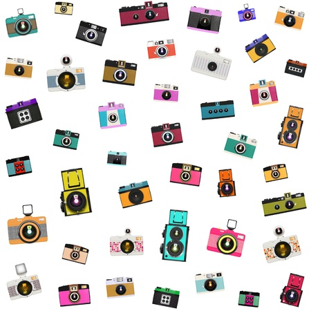 retro and vintage camera pattern