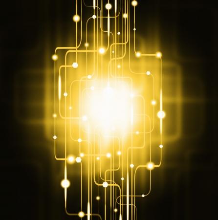 circuito electronico: resumen de la placa de circuito, el efecto de la iluminaci�n, la tecnolog�a de fondo Foto de archivo
