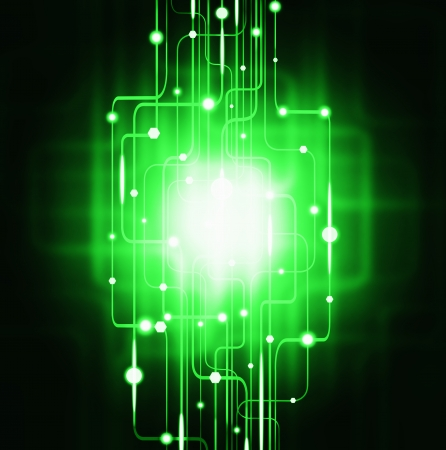 abstract circuit board ,lighting effect ,technology background Stock Photo - 13675428