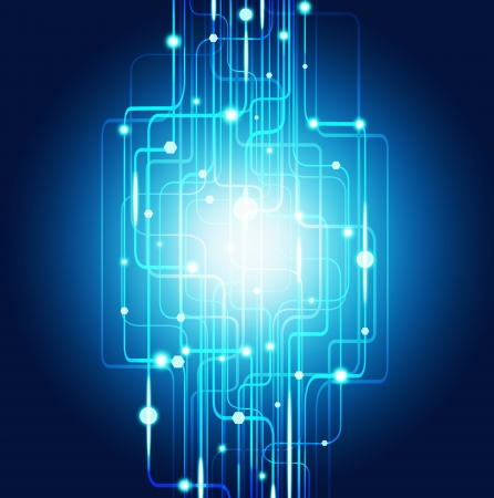 abstract circuit board ,lighting effect ,technology background photo