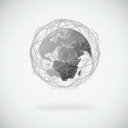 globe design with circle line Stock Photo - 13754013