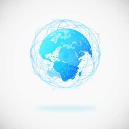 globe design with sphere line and connection signal Stock Photo - 13754008