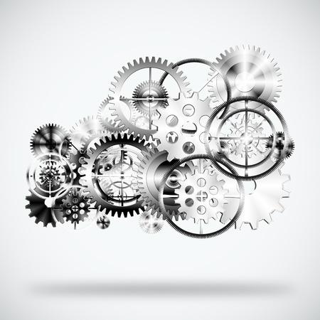 clock gears: cloud made by gears wheels ,industrial background
