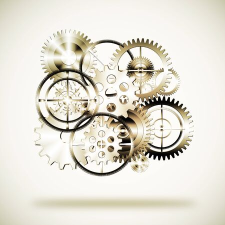 set of gears wheels ,industrial background photo