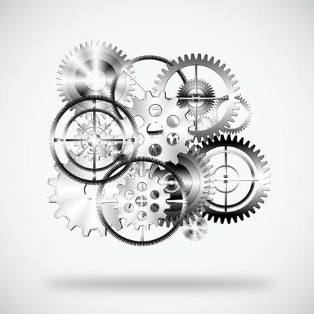 set of gears wheels ,industrial background