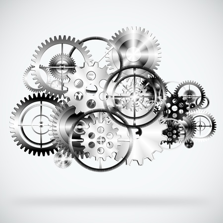 industrial background: set of gears wheels ,industrial background