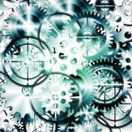 meshed: set of gears wheels ,industrial background