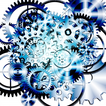 meshed: gears wheels design , industrial background
