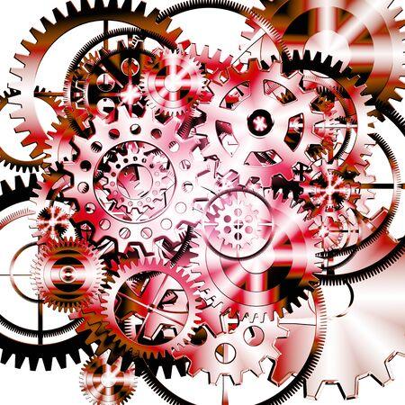 torn metal: gears wheels design , industrial background