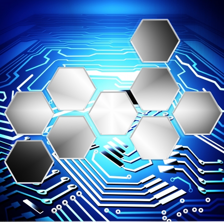 circuit board and technology background photo