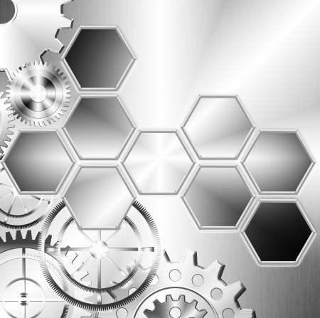 technology and industrial background with gear wheel photo