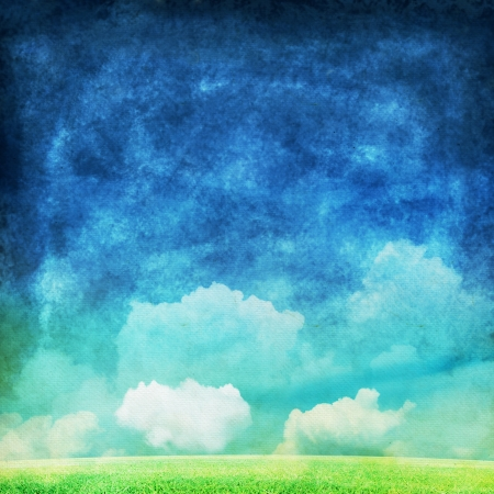 cloud and sky painting ,spring and summer background Standard-Bild