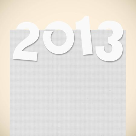 new year 2013 ,new year card ,paper design Stock Photo - 14188521