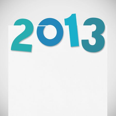 new year 2013 ,new year card ,paper design Stock Photo - 14188513