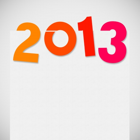 new year 2013 ,new year card ,paper design Stock Photo - 14188518
