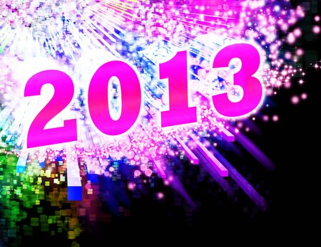 new year 2013 ,lighting effects background Stock Photo - 14188523