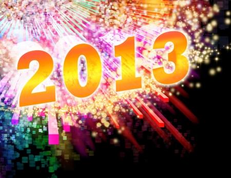 new year 2013 ,lighting effects background Standard-Bild