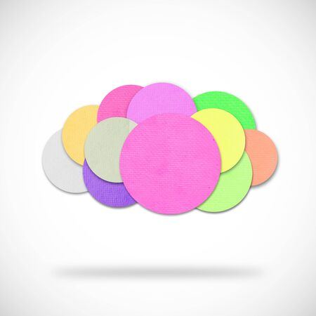 colorful cloud design by paper photo