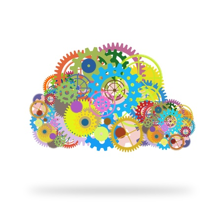 enterprise: cloud design by gears and cogs Stock Photo