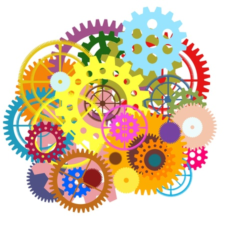 gears wheels design , industrial background Stock Photo - 14723525