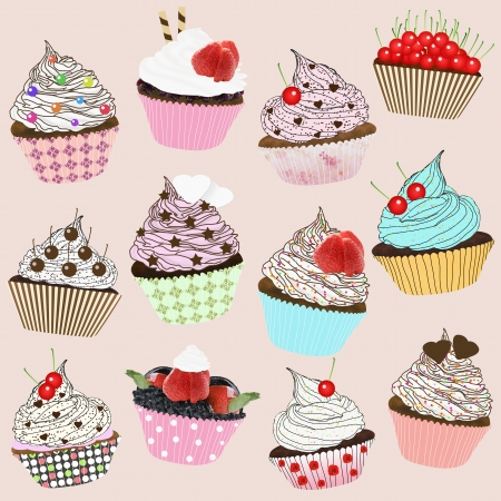 cupcakes design Stock Photo - 14800611