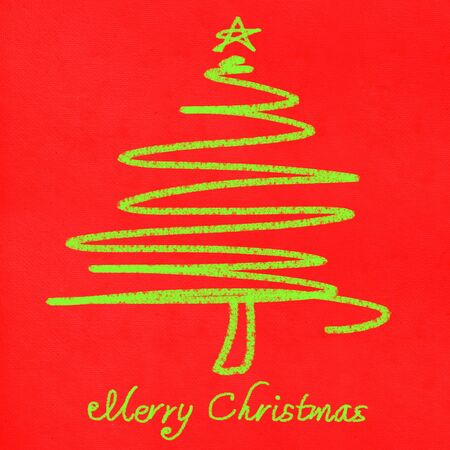 christmas card ,christmas tree painting photo