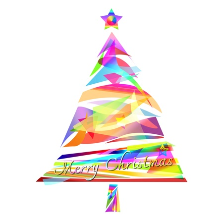 christmas tree design by abstract shape Stock Photo
