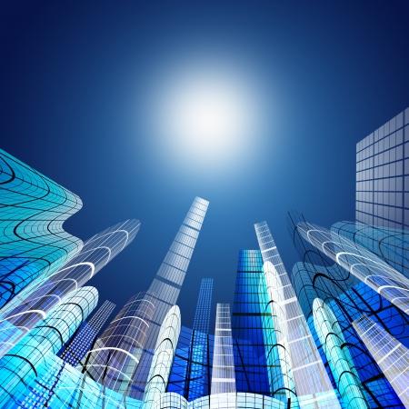 Zusammenfassung der Wolkenkratzer, Architektur Hintergrund