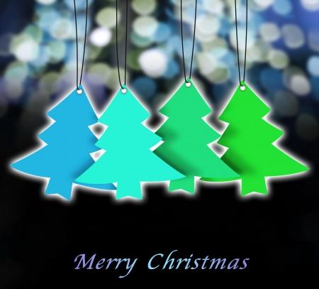 christmas card ,christmas tree ,christmas background Stock Photo