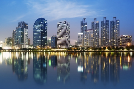 bangkok city: night scenes of city ,building at night