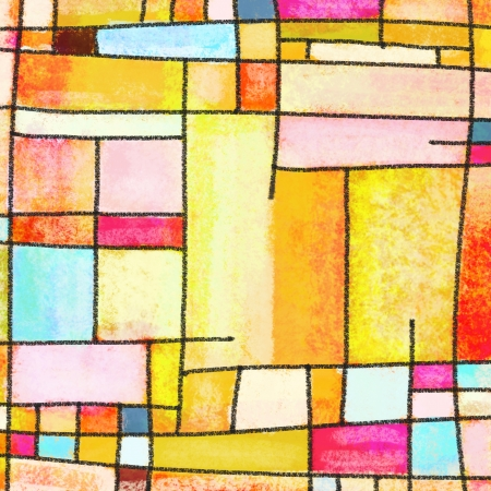 abstract geometric colorful pattern ,painting of multicolors square pattern photo