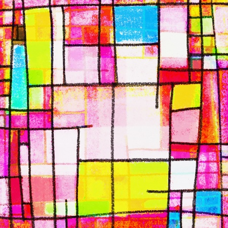 mondrian: abstract geometric colorful pattern ,painting of multicolors square pattern
