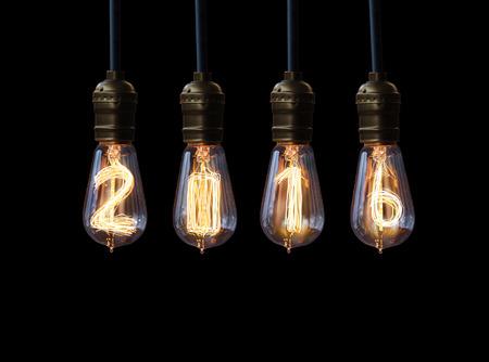light bulb,new year 2016