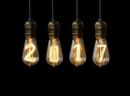 light bulb,new year 2017 Standard-Bild