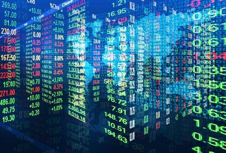 stock market concept ,bullish and bearish market Stock Photo