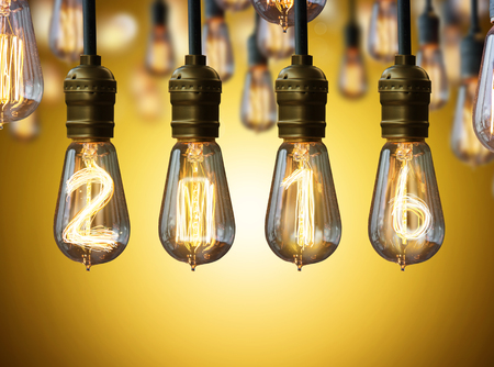 light bulb,new year 2016